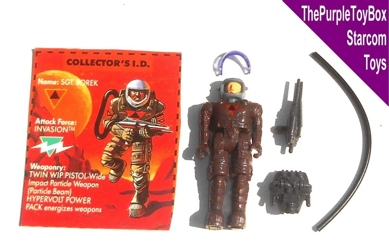 (C024) Vintage 1980's Starcom Starcom Starcom Toys  SGT. BOREK  Invasion 5a5fb1