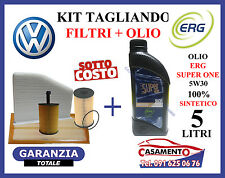 KIT TAGLIANDO VW PASSAT 1.9 2.0 TDi 4 FILTRI + 5 LITRI OLIO ERG 5W30