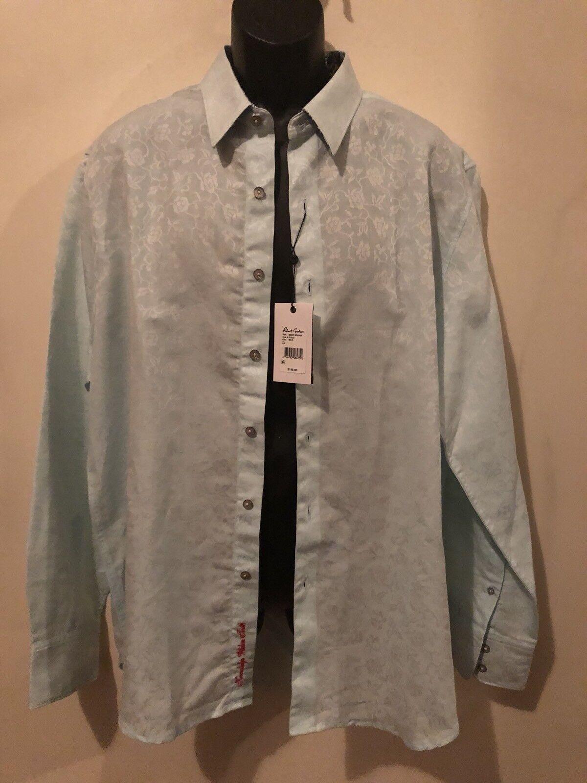 NWT Mens Robert Graham Long Sleeve Button Front Shirt Size XL