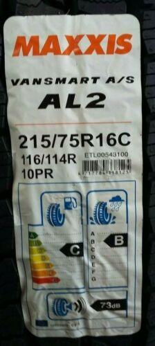 2 X 215//75 16C MAXXIS ALL SEASON VANSMART AP2 2157516C 10 PLY COMMERCIAL CAMPER