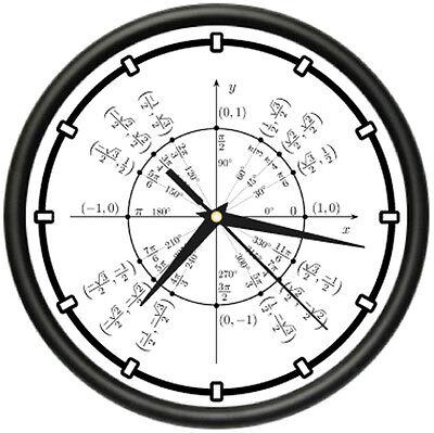 UNIT CIRCLE RADIAN Wall Clock trigonometry math teacher