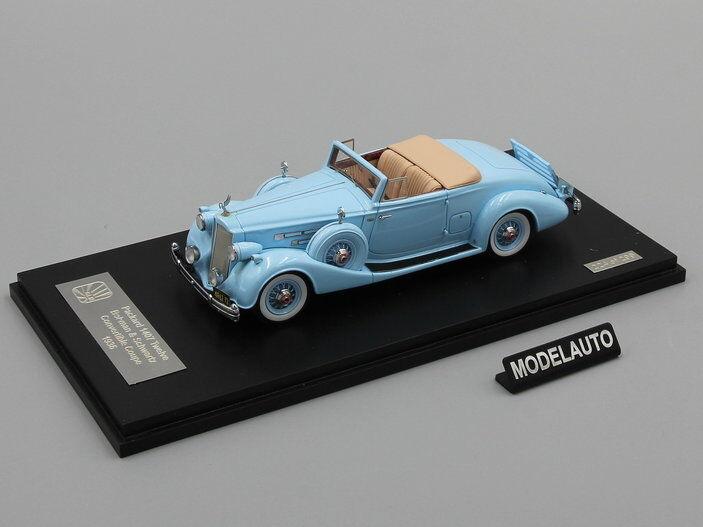 GLM 1 43 Packard Twelve Model 1407 Bohman Bohman Bohman & Schwartz Congreenible Coupe 1936 blueee 632