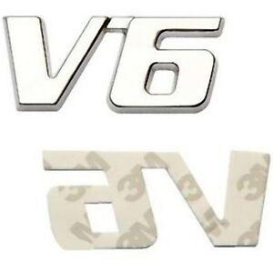 LOGO-EMBLEME-BADGE-SIGLE-V6-CHROME-AUTOCOLLANT-3M-Saab