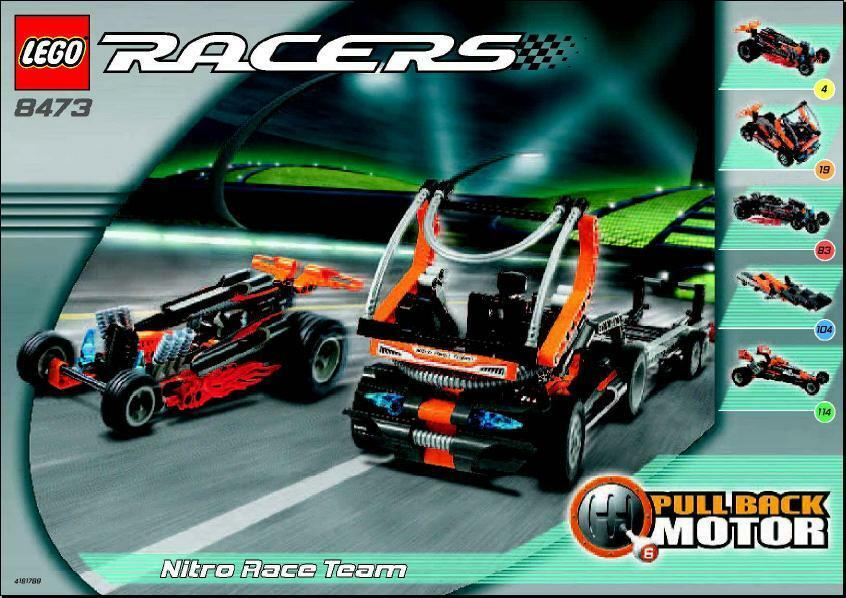 Lego Racer 8473 Nitro Race Team Nuovo Sealed