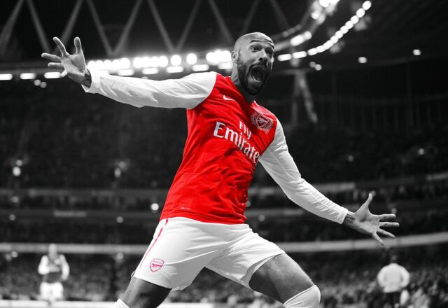 Thierry Henry - Arsenal FC - A1/A2/A3/A4 Size Poster Print
