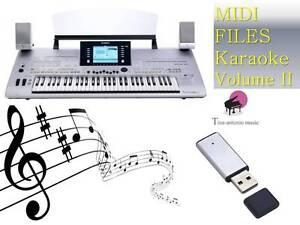 MIDI File Karaoke USB stick for Tyros 3 NEW Volume 2