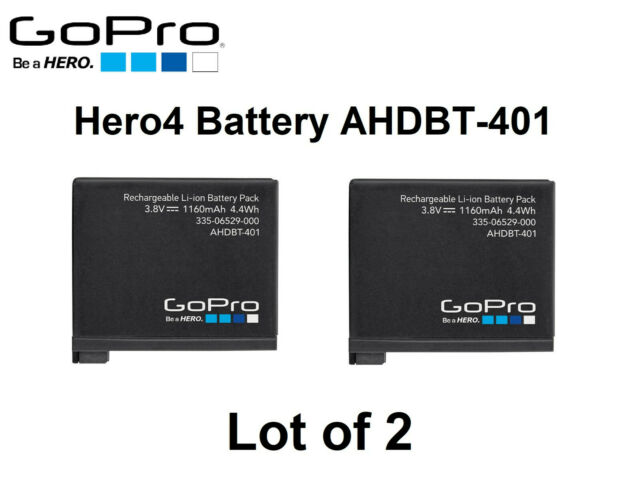 BRAND NEW AHDBT-401 Genuine battery For Gopro Hero 4 HD Black Silver 1160mAh