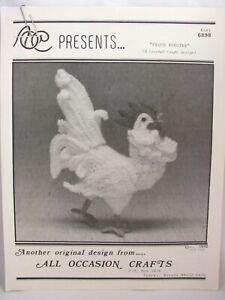 Proud-Rooster-Crochet-Pattern-11-5-034-High-1992-Original-Design-Lorie-Stark-6898