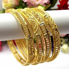 Indian Asian Size:2.10 Pakistani Bridal Jewellery 22ct Gold Plated Bangles