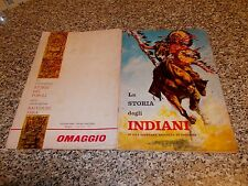 ALBUM LA STORIA DEGLI INDIANI ED.MIRA 1965 COMPLETO MB/OTT TIPO WEST PANINI EDIS