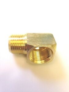90 Degree Street Elbow 1//4 NPTF   Solid Brass Pipe Fitting High Quality USA