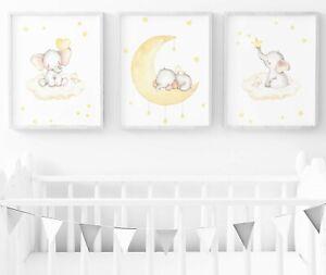 Elephant Nursery Print - Set Of 3 - Baby Room Wall Art - Nursery Decor | EBay