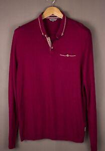 TED-BAKER-Men-Casual-Polo-Neck-Sweatshirt-Jumper-Size-L-5-ATZ679
