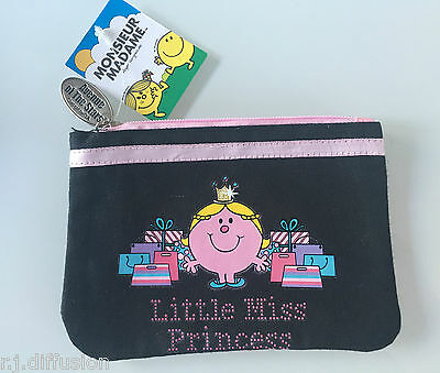 Trousse Pochette noir Monsieur Madame LITTLE MISS PRINCESS Avenue of the Stars