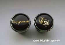 Tulio Campagnolo 50th Anniversary Handlebar Plugs Bar End Caps NOS new gold rare