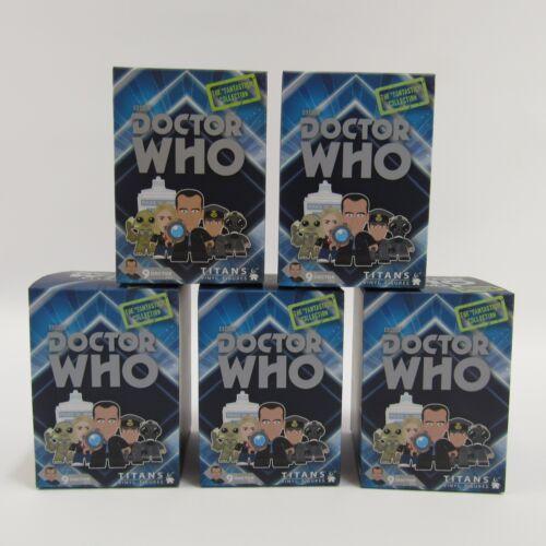 Doctor Who 9th Dr Titans Vinyl Figures Nouveau Lot de 5 Scellé Aveugles box boîtes boîtes