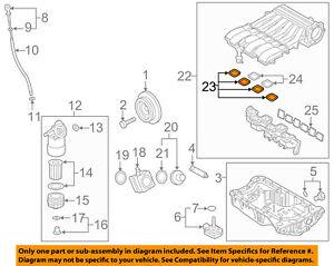 Intake Manifold Gasket UPPER 4 VOLKSWAGEN AUDI Q7 2008-2016 GENUINE