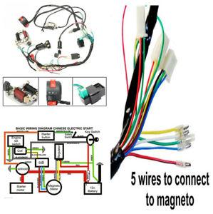 ATV Electric Start Quad Wiring Harness CDI Stator Ignition ...