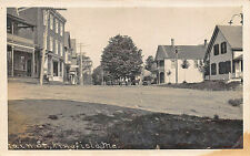 Kingfield ME Main Street View Post Office Store Fronts in 1912 RPPC Postcard