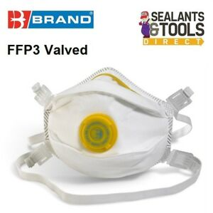 1-B-Brand-P3-Valved-Safety-Face-Mask-Toxic-Level-Dust-amp-Fume-FFP3-Welding-Paint