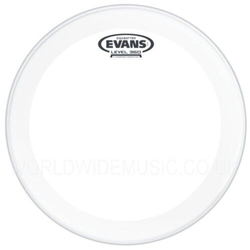 Evans EQ3 22  Frosted Bass Drum Batter Head  -  BD22GB3C