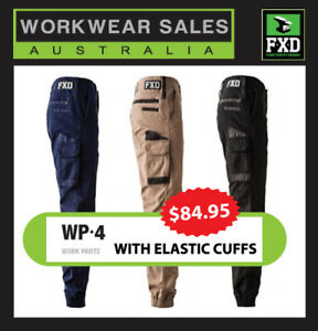 FXD-Work-Pants-WP-4-Stretch-New-Style-Mens-Workwear-Elastic-bottom-WP4-FXD