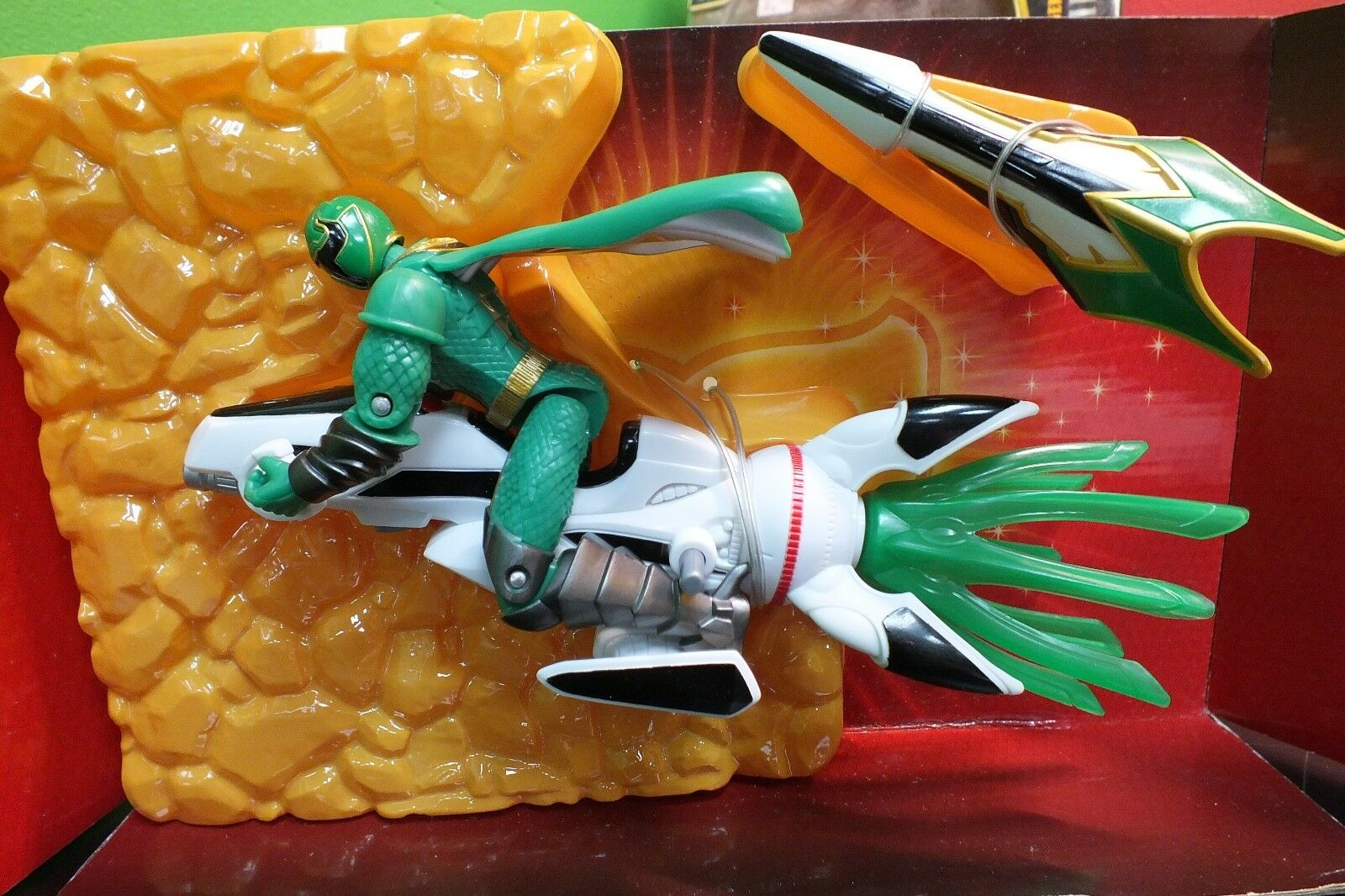 Power Rangers Mystic Force  Green Ranger with Mystic Rider , FREE SHIPPING