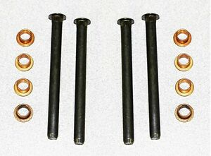 NEW-1965-1973-Mustang-Door-Hinge-Repair-Rebuild-Kit-Pins-Bushings-12-pc-set