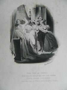 Incisione XIX La Fontana il Guascone Punito Casa Braulart 1835