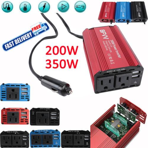 BFVV 200//350W Car Power Inverter Adapter DC 12V to AC 110V Charger Converter US