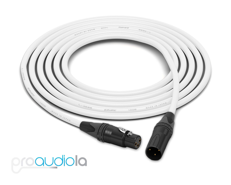 Canare Quad L-4E6S Cable   Neutrik Gold XLR-F XLR-M   Weiß 150 Feet   150 Ft.