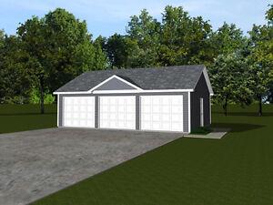 3 Car Garage Plans 32x24 768 Sf 1319 Ebay