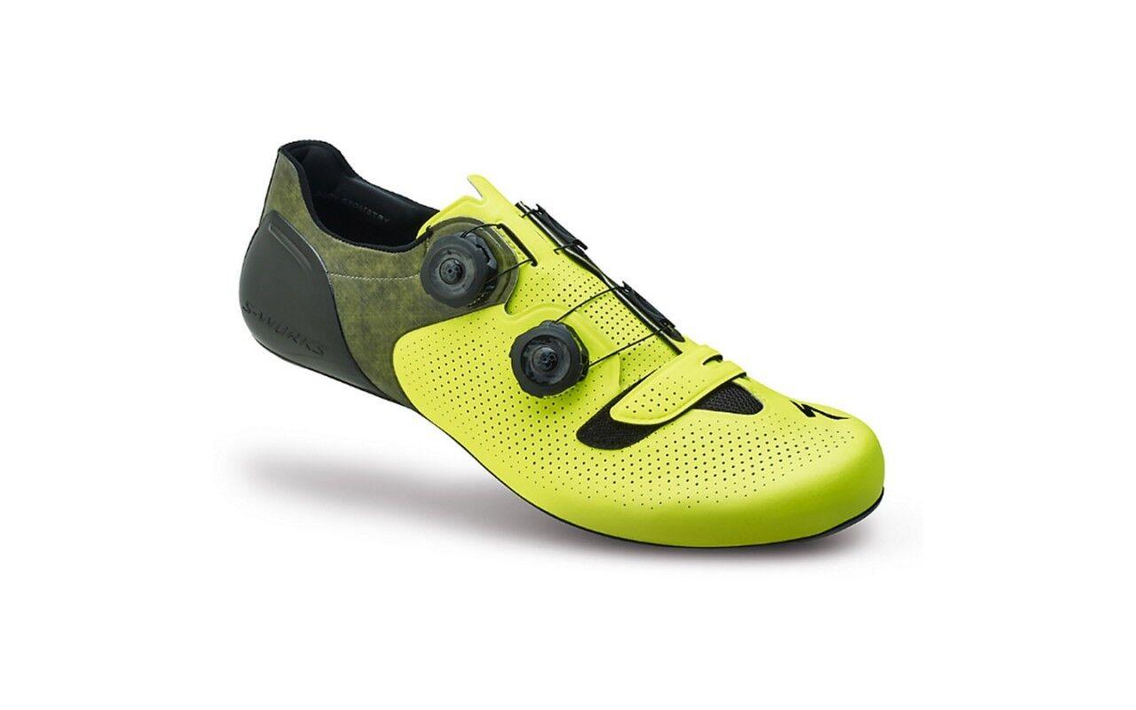 SPECIALIZED shoes TRABAJOS S DE LA CARRETERA 6 yellow FLUO N.44 28.3cm