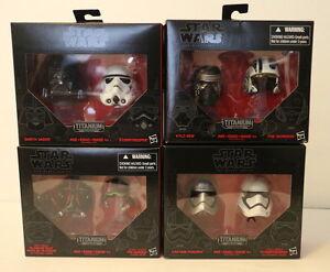 Star Wars Black Series Titanium Helmet Set Poe Ren Vader Tie Phasma Stormtrooper
