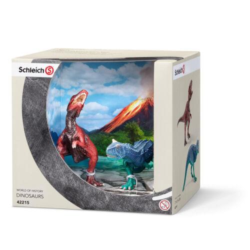 CARNOTAURUS AND GIGANOTOSAURUS by Schleich; NEW 2016 model//dinosaur//toy//42215