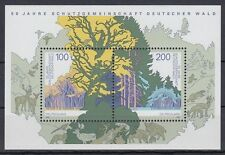 Germany*FOREST PROTECTION-SHEET-DEER-WILD BOAR-BIRDS-1997-Trees-pheasant-MNH