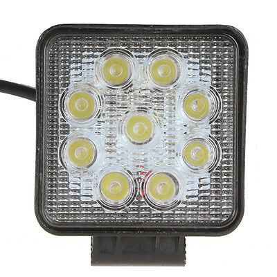 1800LM 27W 9X 3W Bead LED Square Offroad LED Work Light Car Spotlight Floodlight