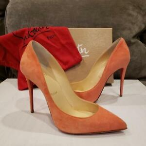 b63161dc5555 Image is loading Christian-Louboutin-PIGALLE-FOLLIES-100-Suede-Heel-Pump-