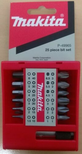 MAKITA P-49965 25 PIECE SCREWDRIVER BIT SET WITH MAGNETIC HOLDER