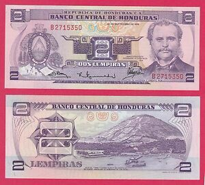 Honduras-P61-2-Lempira-Soto-Port-of-Amapala-Tigre-Island-1976-UNC-UV-9-CV