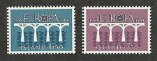 Iceland 588-589 (1984) MNH/OGnh XF/S {Illustrated Bridge} Set of 2
