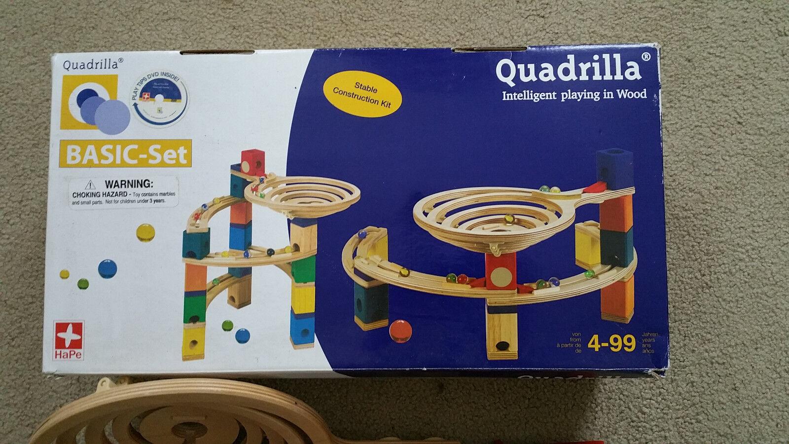 Hape Quadrilla Wooden Marble Run Construction Basic Set 98 Pieces