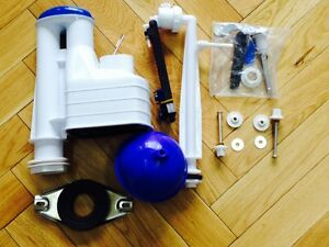 """* Toilet Close Coupled Fittings Pack for Cistern Lever 8/"""" Syphon Full Kit"""