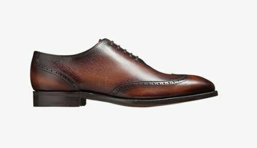 Handgefertigte Herren echte braun schattierte Leder Oxford Brogue Wingtip Schuhe
