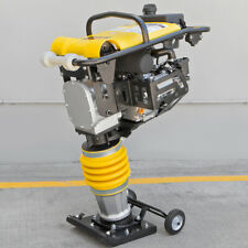 65hp Gas Jack Rammer Tamper Jumping Jumper Plate Compactor Vibratory W Wheel