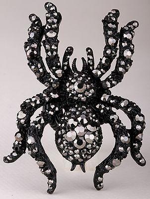 Spider Stretch Ring Crystal Rhinestone Animal Scarf Clip Buckle Halloween RA06