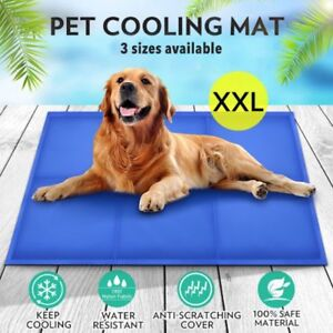 Details About Gel Cooling Mat For Dog Cat Pet Self Cooling Pillow Summer Hot Weather Bed Large