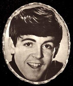 Beatles-1964-Vintage-Pinup-Portrait-Paul-McCartney-7x9-034-Original-NM-COA