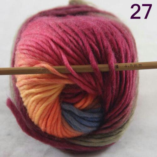 Sale 1 Ball x 50g NEW Knitting Yarn Chunky Hand Wool Colorful Scarves Shawls