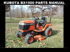 image is loading kubota-bx-1500-bx-1500-d-parts-manual-